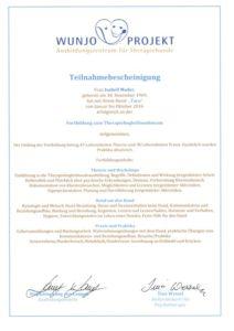 Teilnahmebescheinigung Therapiebegleithunde-Team